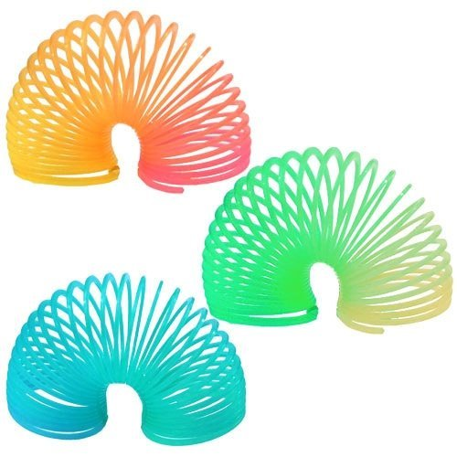 Magic Spring - 1.5 in, Plastic, Glow-in-the-Dark, 12 Pk