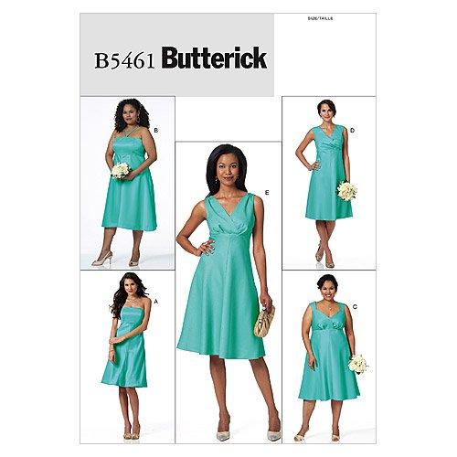 Butterick Patterns B5461 Misses'/Women's Dress, Size B5 (8-10-12-14-16)