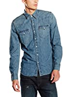Levi's Camisa Hombre Barstow Western (Azul Medio)