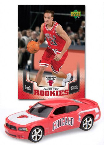 Chicago Bulls NBA 1:64 Dodge Charger Diecast with Luol Deng and Ben Gordon Basketball Card