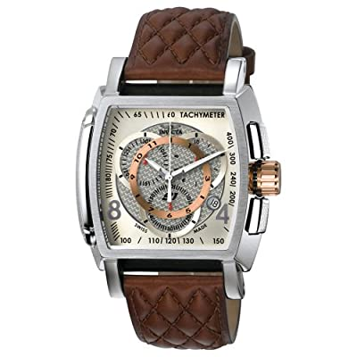 Invicta Men's 5402 S1 Collection Chronograph Brown Leather Strap Watch by Invicta