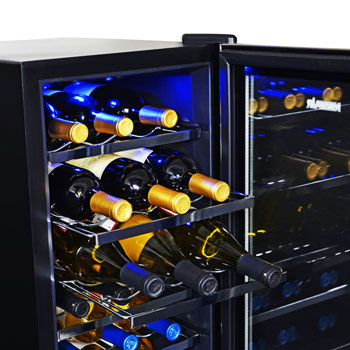 NewAir AW-181E 18 Bottle Wine Cooler with Slide Out Racks