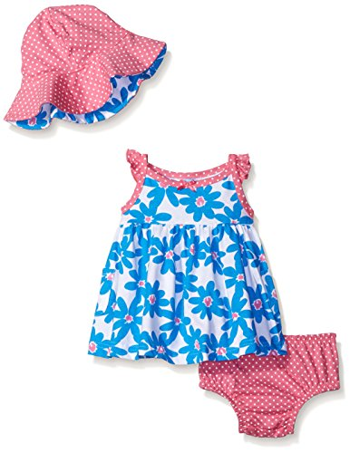 Gerber Baby Three-Piece Sundress, Diaper Cover and Hat Set, Daisy, 18 Months