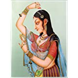"Dolls Of India ""Shringar"" Reprint On Paper - Unframed (29.21 X 22.86 Centimeters)"