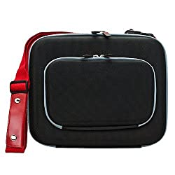 VanGoddyTM VanGoddy Enforcer Hardcore Carrying Case for LG G Pad V700 10.1 inch Tablet + Headrest Mount + Auxiliary Cable (Black)