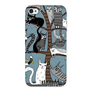 Cat Trees Back Case Cover for iPhone 4 4s