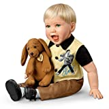 Cheryl Hill The Elvis Inspired Hound Dog Baby Doll: Comes With a Free Musical Plush Dog by Ashton Drake