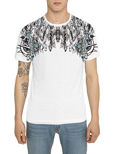 Camisetas-de-Moda-Designer-Cool-Fashion-Rock-Tattoo-para-Hombre-Camiseta-Blanca-con-Estampada-THE-ROCKY-KING-Cuello-redondo-Manga-corta-Algodn-Alta-calidad-Ropa-Moderna-para-Hombres-S-M-L-XL-XXL