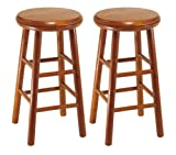 Winsome Wood Assembled 24-Inch Cherry Finish Swivel Stools, Set of 2 (Kitchen)