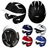 Easton A168035 Natural Grip Two Tone Junior Baseball Batting Helmet (No Mask)