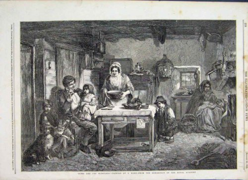 1856 家のおよびホームレスによって塗られる T Faed 高貴なアカデミー