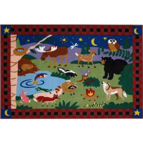 Camp Fire Friends Animals Area Rug 39