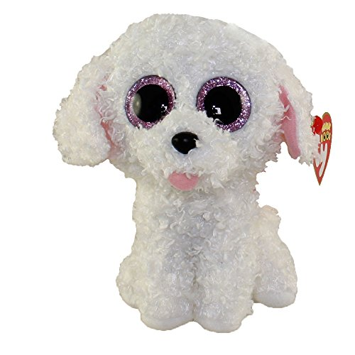 New TY Beanie Boos Cute PIPPIE the White Bichon Dog Plush Toys 6'' 15cm Ty Plush Animals Big Eyes Eyed Stuffed Animal Soft Toys for Kids Gifts