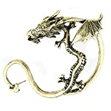 LOCOMO Dragon Wing Ear Cuff Wrap Punk Gothic Rock Hip Hop Stud Earrings JER018BNZ