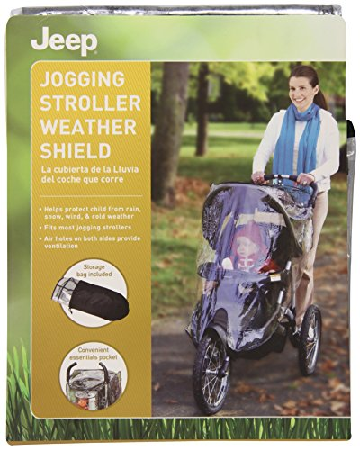 Jeep Jogging Stroller Weather Shield, Baby Weather Shield, Waterproof and Windproof, See Through With Ventilation Holes, Clear
