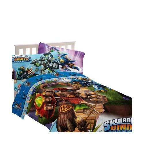 Skylanders Energy Conquers Full Size Comforter, Bed Skirt.