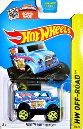 Hot Wheels, 2015 HW Off-Road, Monster Dairy Delivery [Blue] Monster Truck Die-Cast Vehicle #118/250 - 1