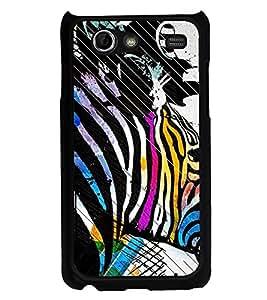 Printvisa Ultra Colourful Zebra 2D Hard Polycarbonate Designer Back Case Cover for Samsung I9...