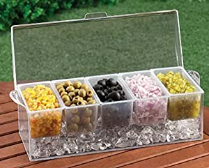 Chilled Condiment Server with 5 Removable Containers. (1, DESIGN 1)