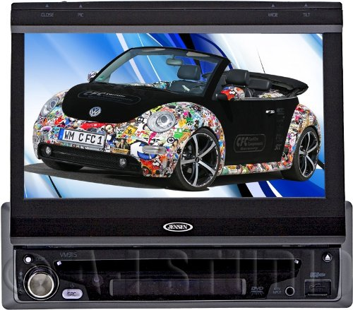 Audiovox Vm9115 1 Din 7-Inch Widescreen Lcd With Touch Panel Display, Pair (Black)