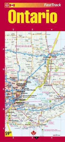 Ontario Laminated Fast Track Map