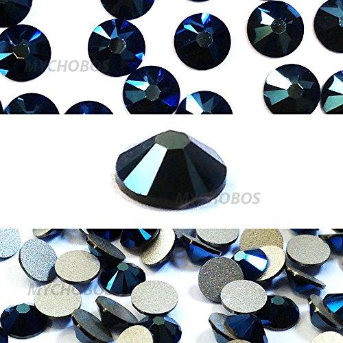 CRYSTAL METALLIC BLUE (001 METBL) Swarovski NEW 2088 XIRIUS Rose 34ss 7mm flatback No-Hotfix rhinestones ss34 18 pcs (1/8 gross) *FREE Shipping from Mychobos (Crystal-Wholesale)*