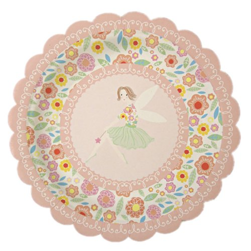 Meri Meri Fairy Magic 7-Inch Small Plates, 12-Pack