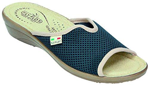 Fly Flot, Pantofole donna Blu blu, Blu (blu), 40 EU