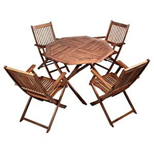 4 Seater Garden Table And Chairs Folding Armchairs And