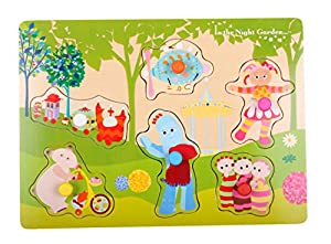 In The Night Garden Pick 'n' Place Wooden Puzzle
