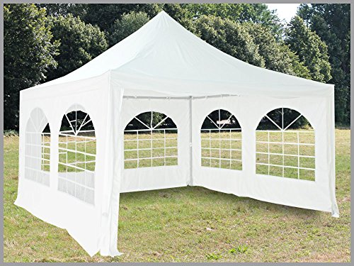 pavillon 4x4m arabica pvc wei partyzelt 4x4 verkaufszelt wasserdicht. Black Bedroom Furniture Sets. Home Design Ideas