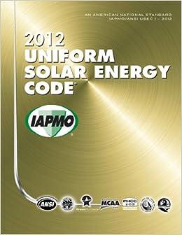 2012 Uniform Solar Energy Code International Association Of Plumbing And Mechanical Officials