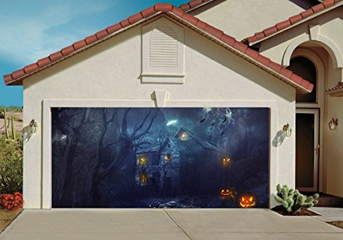 Garage Door Halloween Decorations Cover Decor Pumpkin Wicked Billboard Outside Decoration for Garage Door (Halloween Decorations Garage Door)