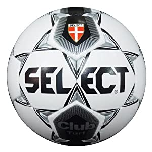 Select Club Turf Soccer Ball (White/Silver, Size 3)