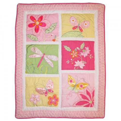 Kidsline Tiger Lily Crib Bedding Collection - Quilt back-1047348