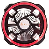 GOLDEN FIELD LY CPU Cooler, CPU Heatsink, CPU Fan, PC Radiator Low Noise Halo LED Lighting Ray PC Heatsink for Intel & AMD(Red) (Color: LY-RD, Tamaño: LY Series)