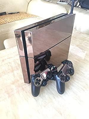 Electroplating Decal Sticker Skin for Playstation 4 Ps4 (Console Skin X 1 + Controller Skin X 2)