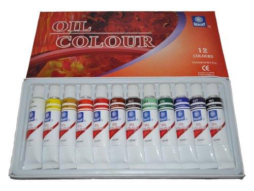 Memory Coffret de 12tubes aluminium de peinture à l'huile pour artistes professionnels 12ml