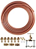 LDR 509 5102 Ice Maker/Humidifier Installation Kit, 1/4-Inch x 25-Foot, Copper Tubing