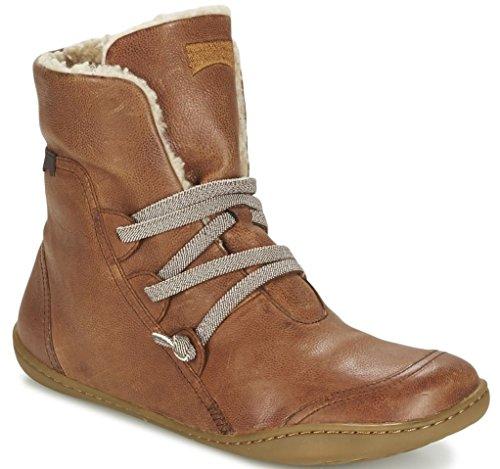 Camper Peu Cami 46477 Tan Womens Hi Leather Boots-36