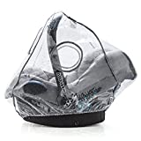 Universal Komfort Regenschutz für Babyschale (z.B. Maxi-Cosi/Cybex / Römer) | gute Luftzirkulation, verschließbares Kontakt-Fenster, Eingriffsöffnung für Tragegriff, PVC-frei