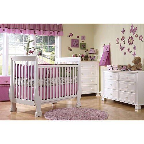 Baby Cache Essentials Sleigh Crib - White