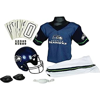 Buy Franklin Sports Inc. Boys' Nfl Seattle Seahawks Uniform Set by Franklin