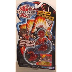 Bakugan Battle Brawlers Starter Red Pyrus Twin Dragons 2 Dragonoid Pack