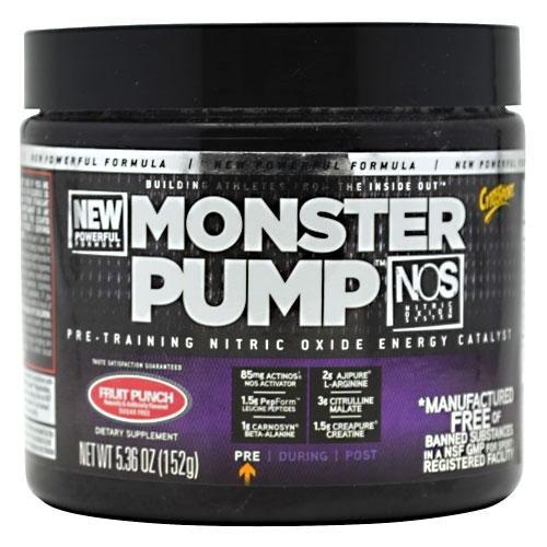 Monster Pump NOS - Comprehensive Pre-Workout Formula Fruit Punch 181.4 g
