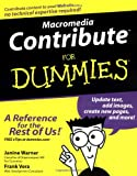 img - for Macromedia Contribute For Dummies (For Dummies (Computers)) book / textbook / text book