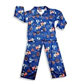College Street - Toddler Boys Long Sleeve Coat Style Pajamas, Royal Blue (Size 4T)