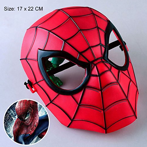 Spiderman PVC Mask for Kids and Adults Fancy Party Halloween Cosplay (17 x 22 cm)