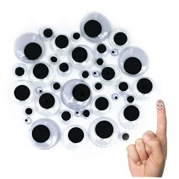 Oblique-Unique® Wackelaugen Mix – 100 Stück – verschiedene Größen als Geschenk
