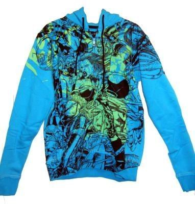 Iron Fist Babylon Electric Blue Mens Zip Hoodie (Ironfist): Small